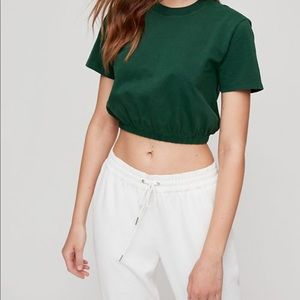 Wilfred NEW Crop Top S Green Shirt Elastic
